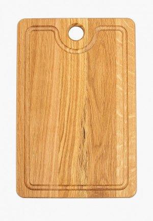 Доска разделочная Svahomeart деревянная, 30х20 см. Цвет: коричневый