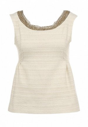 Блуза Axara AX003EWFU586. Цвет: бежевый, золотой