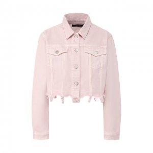 Джинсовая куртка J Brand. Цвет: розовый