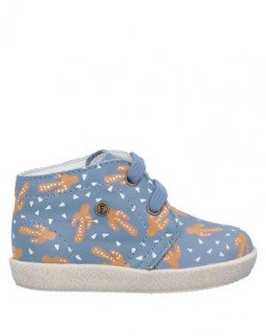 Полусапоги и высокие ботинки FALCOTTO. Цвет: грифельно-синий