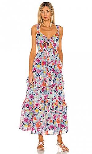 Платье serafina Banjanan. Цвет: нежно-голубой