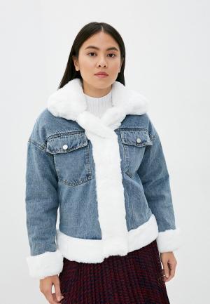 Куртка джинсовая Elsi. Цвет: синий