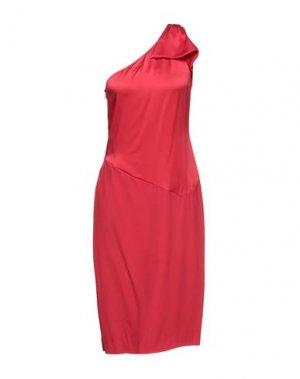 Платье миди ANGEL SCHLESSER. Цвет: красный