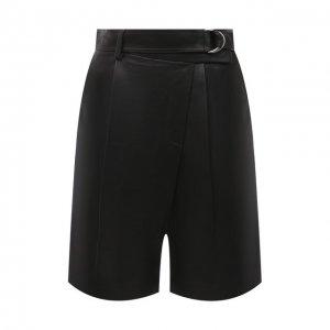 Кожаные шорты Helmut Lang. Цвет: чёрный