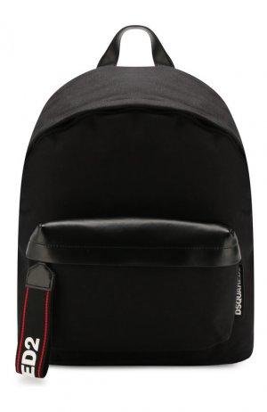 Текстильный рюкзак Dsquared2. Цвет: черный