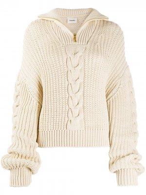 Пуловер Eria Nanushka. Цвет: нейтральные цвета