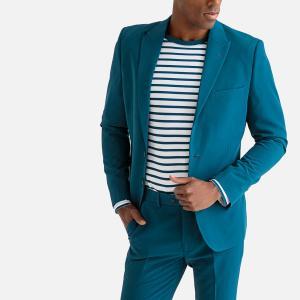 Пиджак костюмный узкого покроя LA REDOUTE COLLECTIONS. Цвет: синий