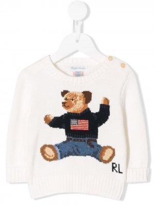 Свитер с вышивкой Ralph Lauren Kids. Цвет: белый