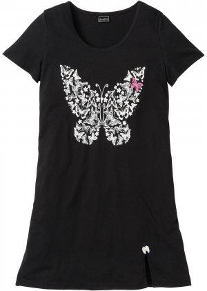 Ночная сорочка bonprix. Цвет: черный