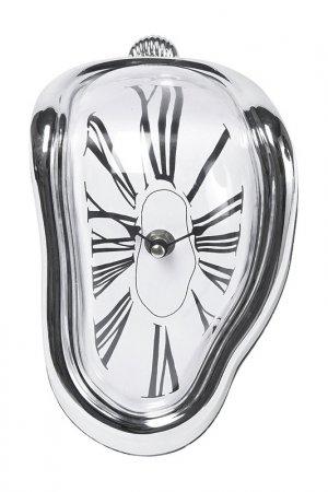 Часы настольные Flow Kare. Цвет: серебряный