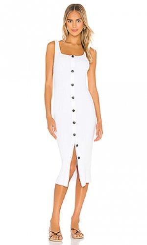 Платье миди Enza Costa. Цвет: белый