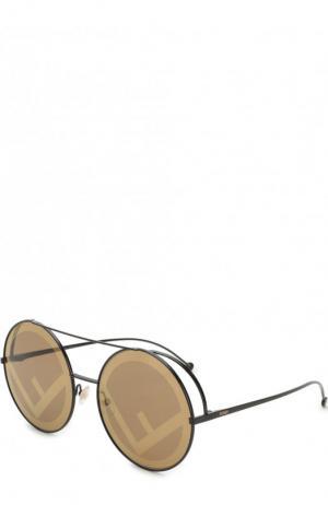 Солнцезащитные очки Fendi. Цвет: золотой
