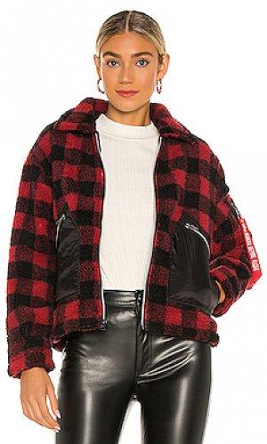 Куртка из искусственного меха utility ALPHA INDUSTRIES. Цвет: красный