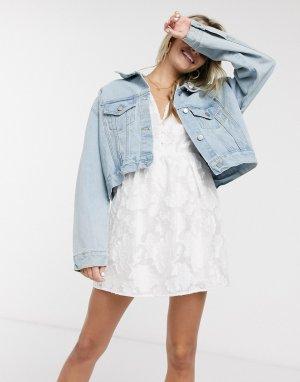 Джинсовая oversized-куртка -Голубой Skylar Rose