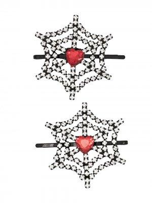 Набор из двух невидимок с кристаллами Ashley Williams. Цвет: красный