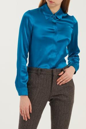 Голубая рубашка Gucci. Цвет: multicolor