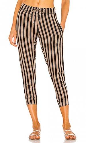 Укороченные брюки saku MIKOH. Цвет: beige,black