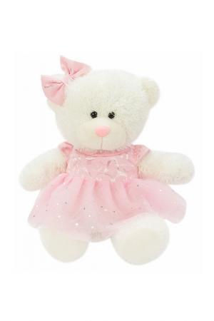 Мишка Лапочка Fluffy Family. Цвет: белый, розовый