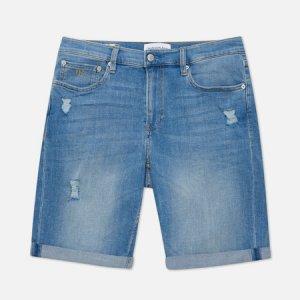 Мужские шорты Slim Short Calvin Klein Jeans. Цвет: голубой
