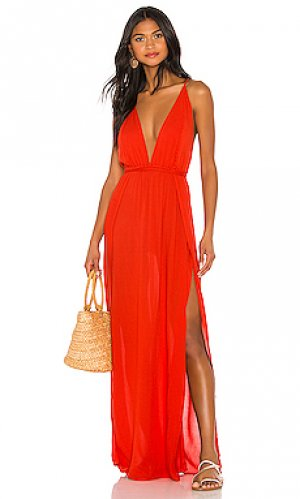 Макси платье river Indah. Цвет: красный