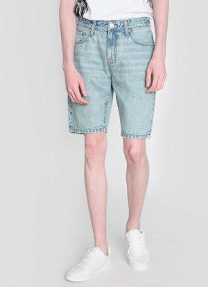 Винтажные джинсовые шорты O`Stin. Цвет: светло-голубой