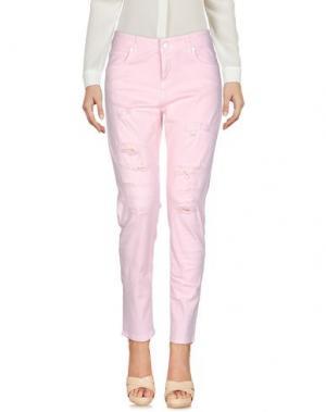 Джинсовые брюки UP ★ JEANS. Цвет: розовый
