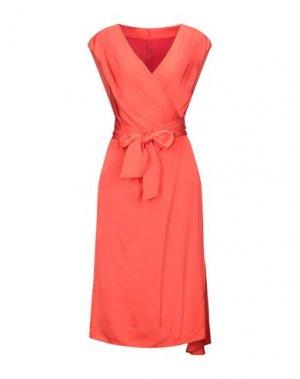 Платье до колена HANITA. Цвет: коралловый