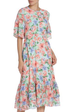 Платье Libellulas. Цвет: цветочный принт