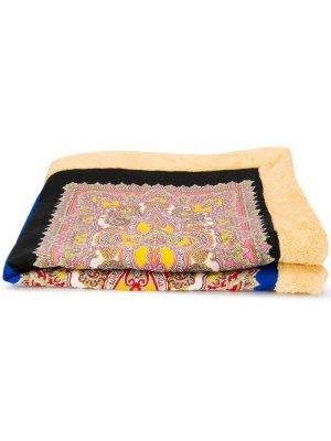 Пляжное полотенце с принтом Etro. Цвет: желтый