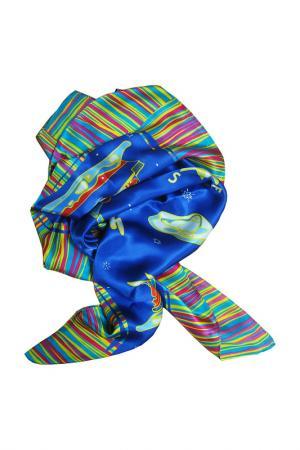 Платок F.FRANTELLI. Цвет: синий, розовый, голубой