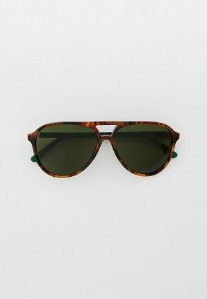 Очки солнцезащитные Polo Ralph Lauren PH4173 501771. Цвет: коричневый