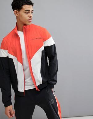 Красная мягкая куртка в стиле ретро -Красный J.Lindeberg Activewear