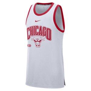 Мужская классическая майка DNA НБА Chicago Bulls Courtside - Белый Nike