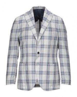 Пиджак GI CAPRI. Цвет: светло-серый