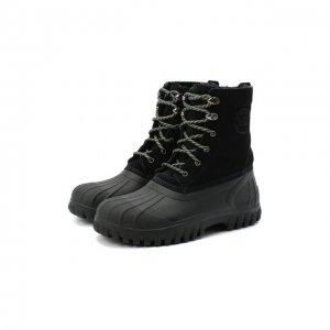 Комбинированные ботинки Diemme. Цвет: чёрный