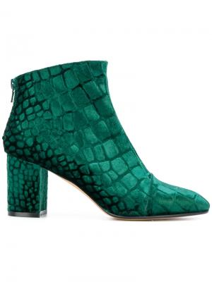 Ботинки с закругленным носком и принтом Jean-Michel Cazabat. Цвет: зеленый