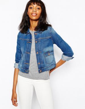 Джинсовая куртка Premium Monki. Цвет: синий