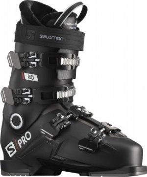 Ботинки горнолыжные S/PRO 80, размер 27 см Salomon. Цвет: черный