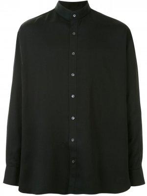 Рубашка с воротником-стойкой Cerruti 1881. Цвет: черный