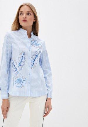 Блуза Escada Sport. Цвет: голубой