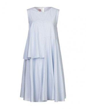 Платье до колена ANDREA TURCHI. Цвет: небесно-голубой