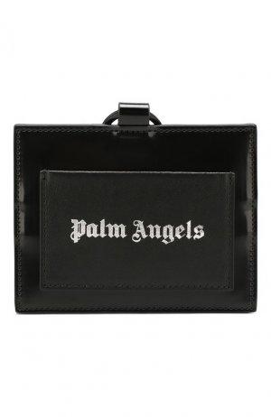 Футляр для кредитных карт Palm Angels. Цвет: чёрный
