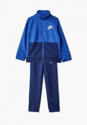 Костюм спортивный Nike B NSW TRACK SUIT POLY. Цвет: синий