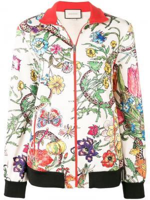 Куртка-бомбер с узором Sicilian Gucci