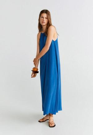 Сарафан Mango - ORIENTAL-I. Цвет: синий