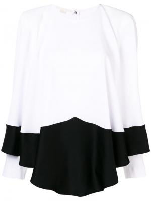 Draped long sleeve blouse Antonio Berardi. Цвет: белый