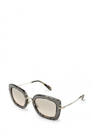 Очки солнцезащитные Miu MU 07OS DHE3H2. Цвет: серый