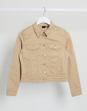 Бежевая джинсовая куртка -Бежевый Vero Moda