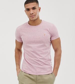 35a3d91f71b Розовая облегающая меланжевая футболка Gloor эксклюзивно для ASOS Farah.  Цвет  розовый