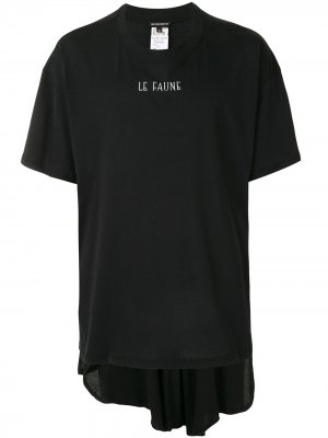 Футболка Le Faune Ann Demeulemeester. Цвет: черный